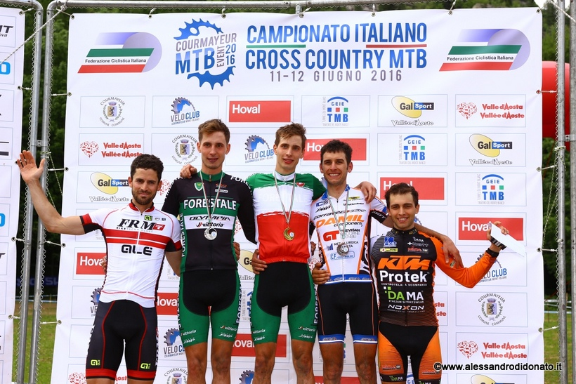 Campionato italiano XCO 2016 podio Elite - Courmayeur