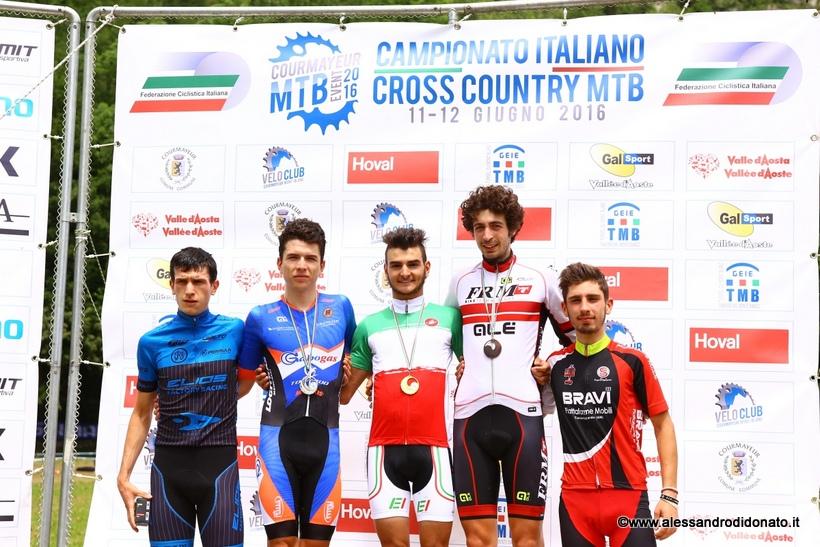 Podio under 23 campionato italiano mtb 2016