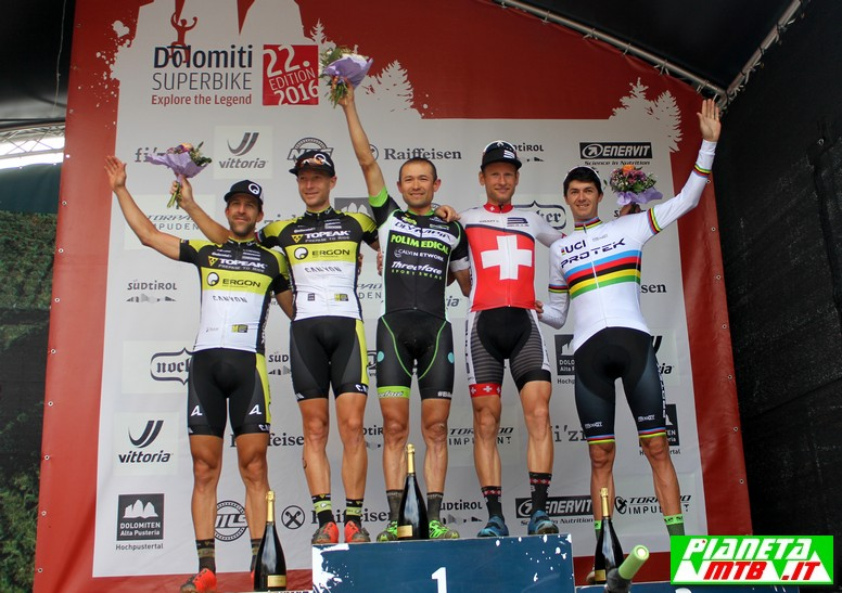 Dolomiti Superbike 2016 - il podio maschile