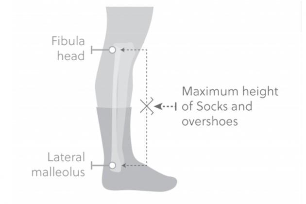 UCI misura calze ciclismo