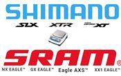 Peso gruppi MTB 12x, Shimano XTR, XT, SLX vs SRAM Eagle AXS, XX1, GX, NX