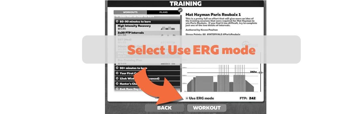 Zwift funzione ERG