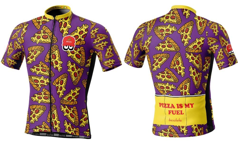 Biciclista maglia ciclismo Pizza Pie
