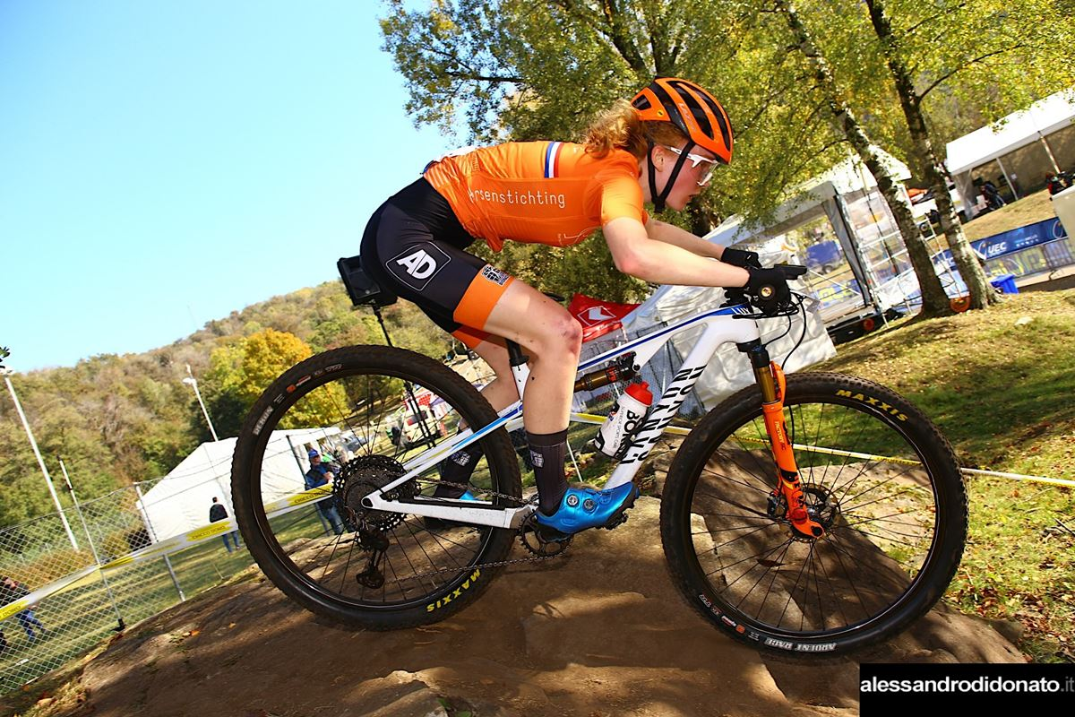 Puck Pieterse all'Europeo XCO Junior 2020