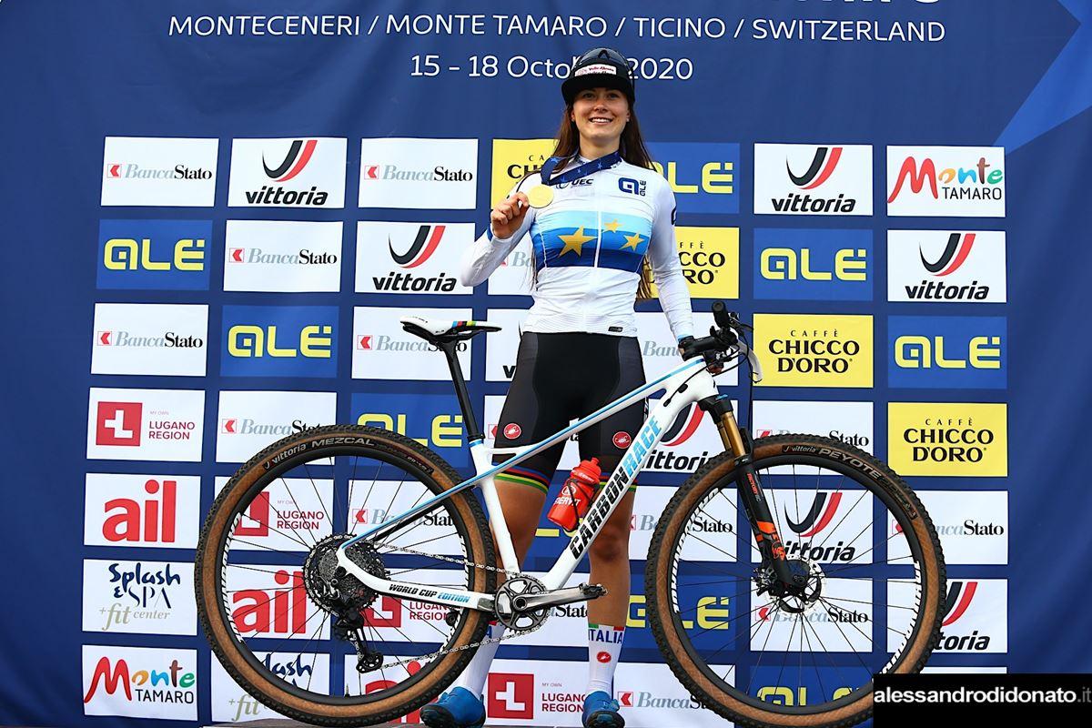 Gaia Tormena campionessa d'Europa XCE - Monte Tamaro 2020