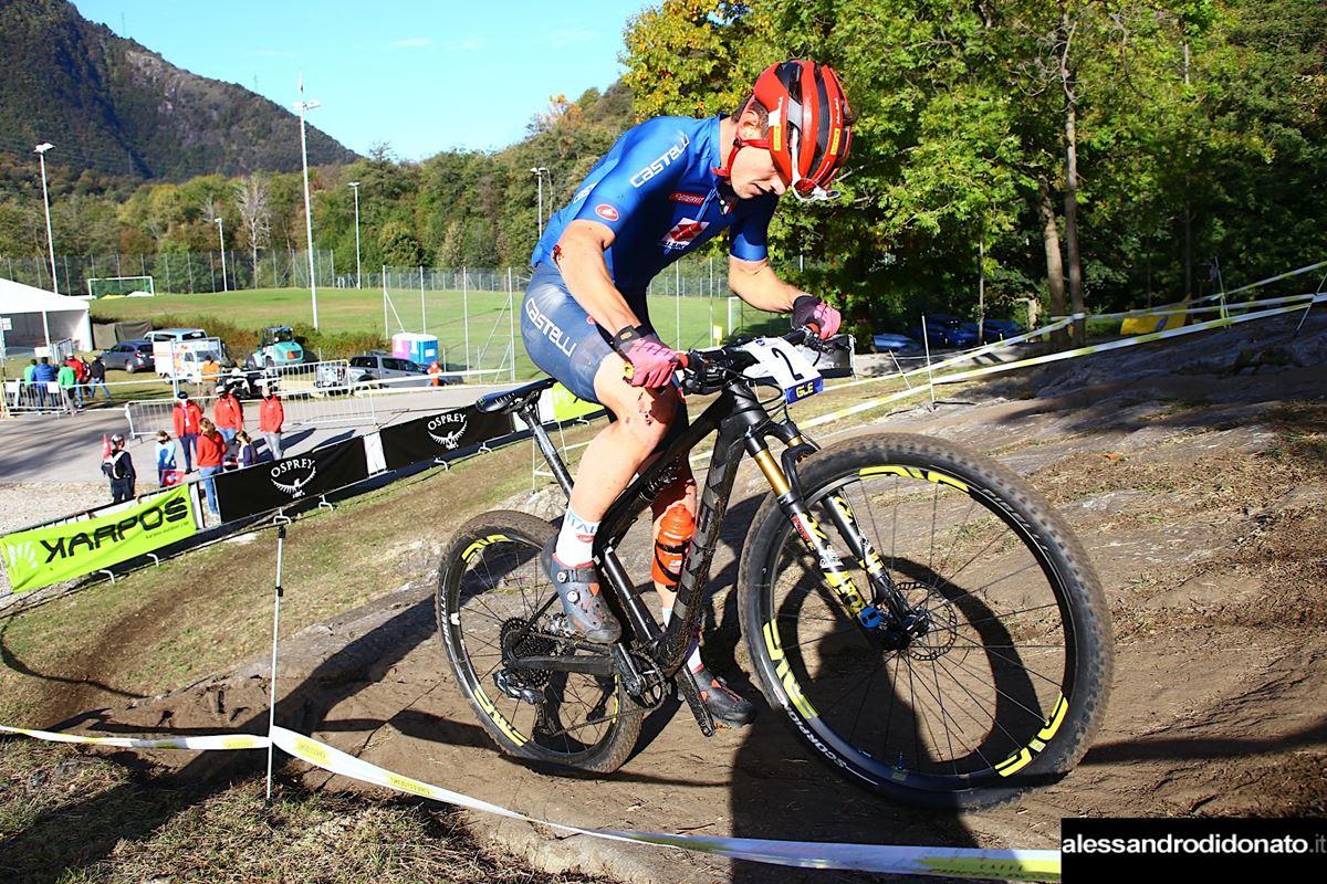 Simone Avondetto al campionato europeo XCO - Monte Tamaro - Svizzera