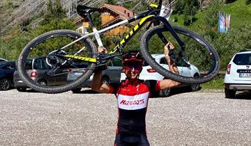 Bella prova di Luca Tonni alla Lusia Extreme Uphill