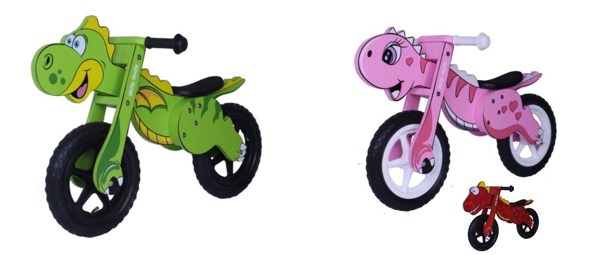 Milly Mally Dino Bicicletta in legno, senza pedali