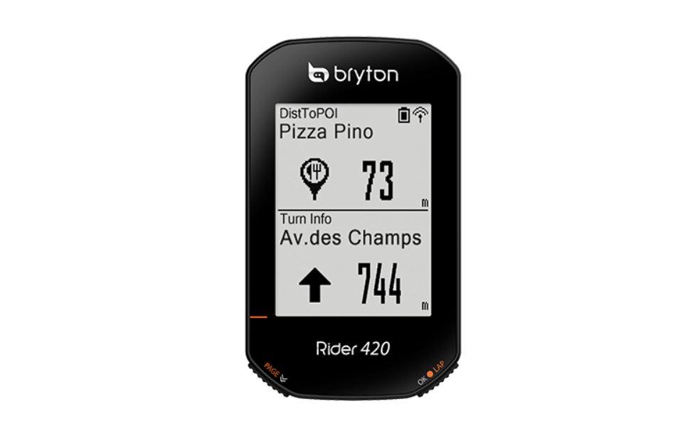 Bryton Rider 420 schermata
