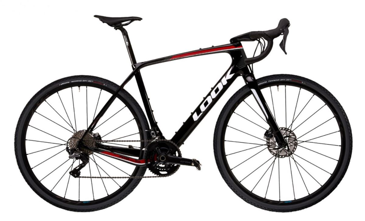 LOOK 765 GRAVEL RS BLACK RED GLOSSY  2021