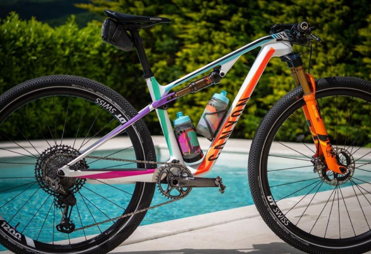 Canyon Lux con gomme Schwalbe G-One Allround