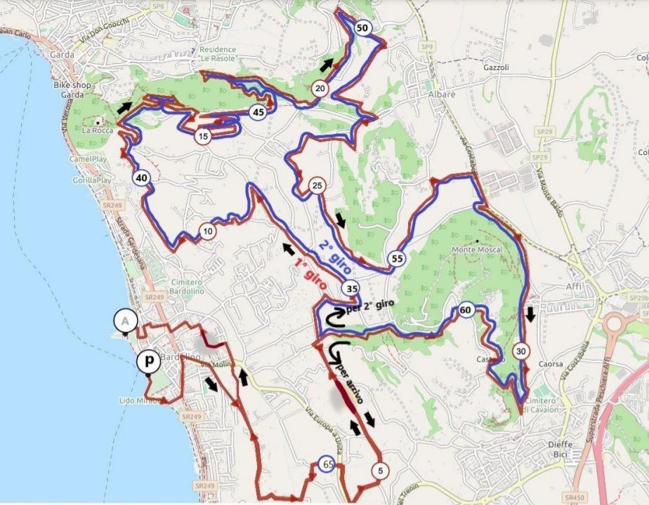 Bardolino Bike - Il percorso