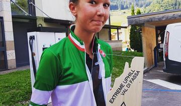 Chiara Burato (OMAP Cicli Andreis) tricolore Up Hill a Moena