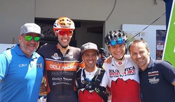 OMAP Cicli Andreis a podio a Pinzolo. Burato quinta ad Aielli