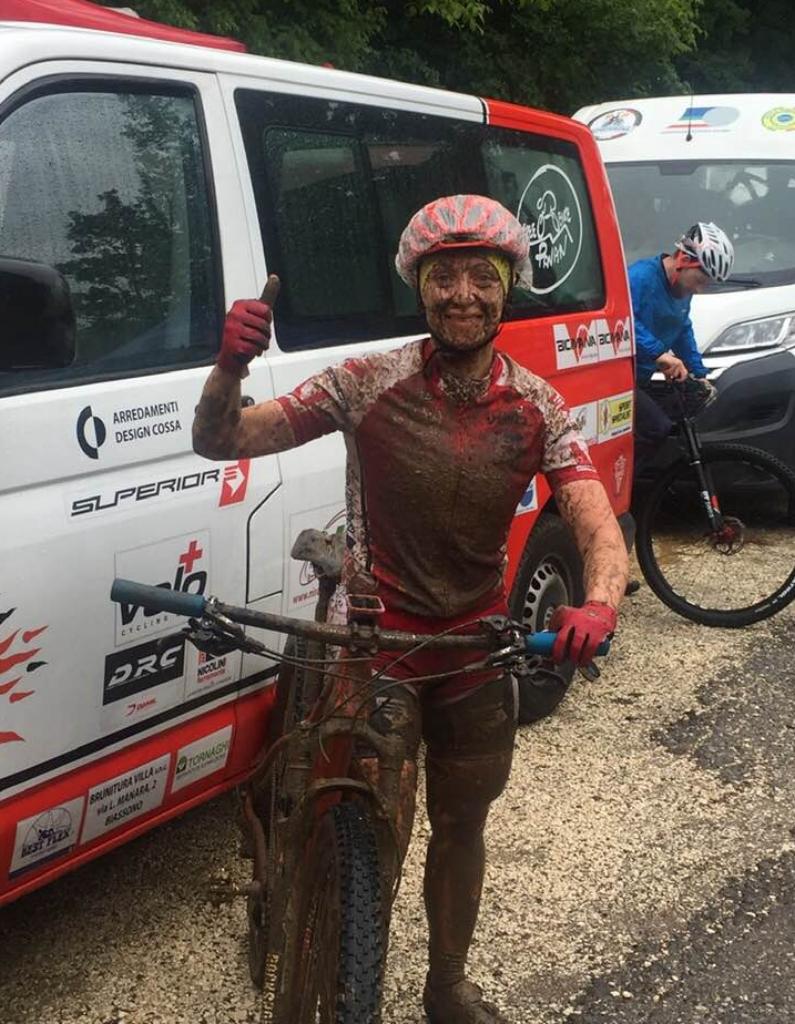 Karin Tosato soddisfatta al termine della difficile gara di Rezzato