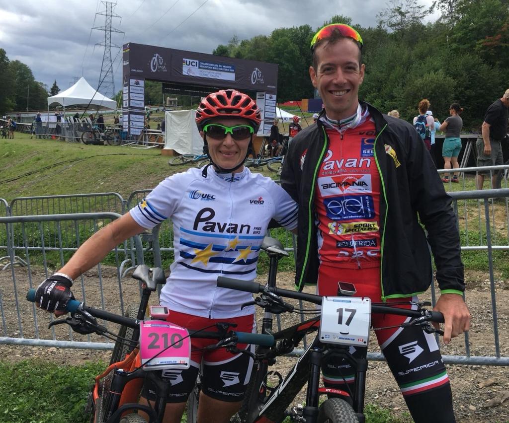 I due vice-Campioni del Mondo Karin Tosato e Ivan Zulian, argento a Mont-Sinte-Anne