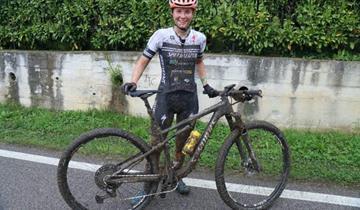 Podio di Anna Oberparleier (RH Racing) alla Veneto Cup