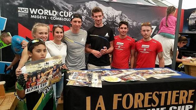 Daniele Mensi e Luca Ronchi alla Seance Decicace di Alpine MTB Cup alla Roc d'Azur