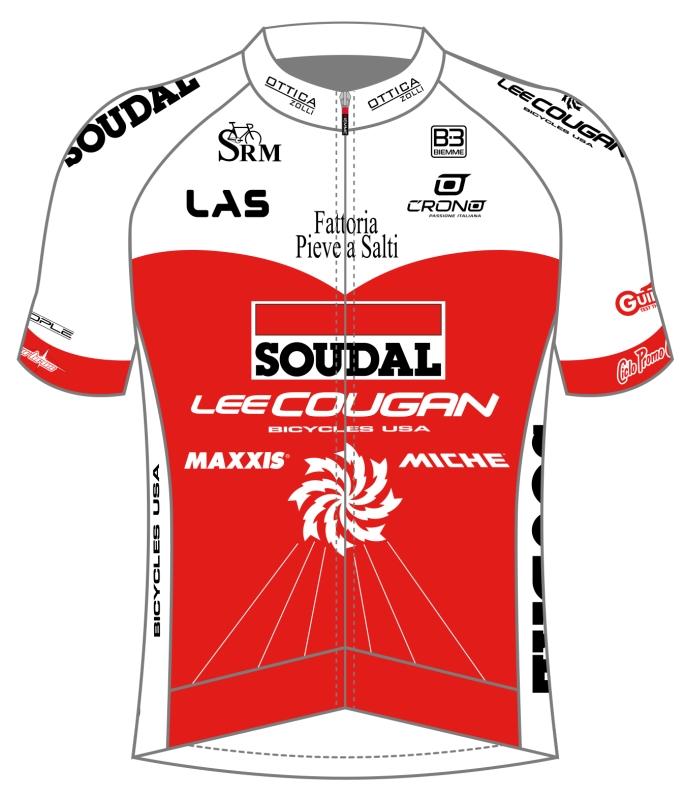 La nuova maglia 2019 di Soudal-Lee Cougan Racing Tea, firmata ancora da Biemme Sport