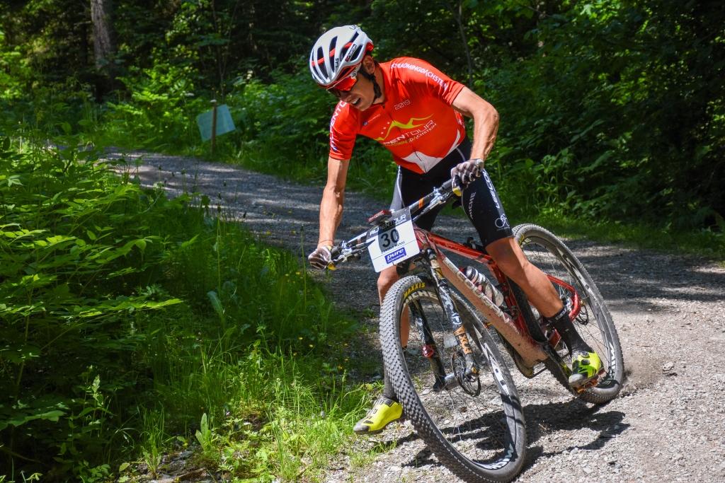 Daniele Mensi, terzo classificato nel secondo stage dell'Alpentour Trophy