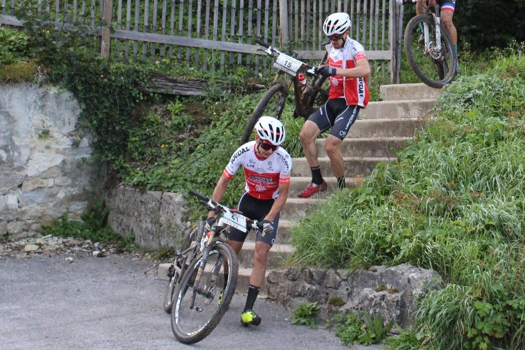 Daniele Mensi e Cristian Cominelli insieme nella prima parte di gara della Forestier