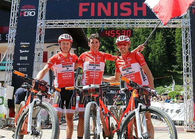 Luca Ronchi, Daniele Mensi e Cristian Cominelli, tre nella top 10 della Hero Südtirol Dolomites per Soudal-Lee Cougan Racing Team