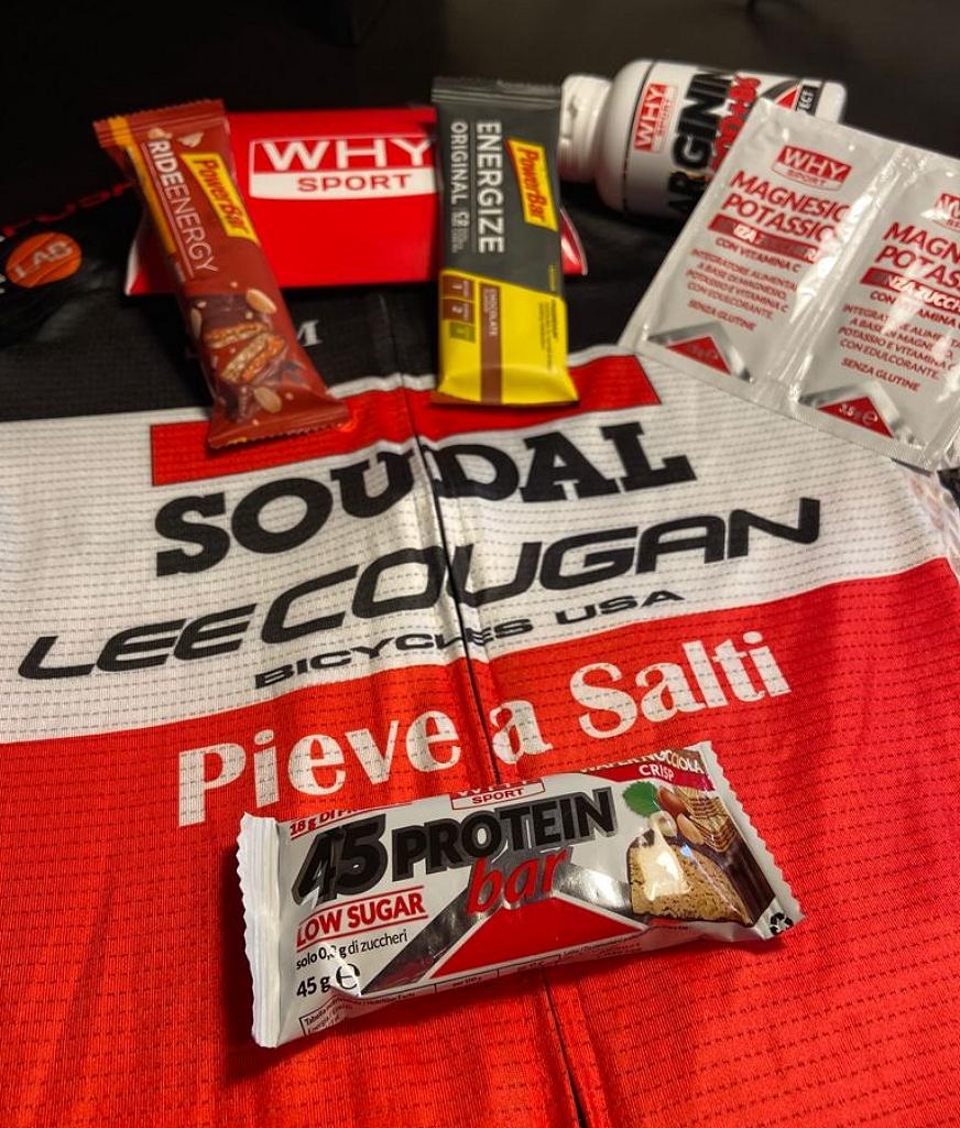 Il pack di alcuni dei prodotti Why Sport per gli atleti di Soudal-Lee Cougan