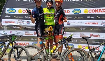 Omap Cicli Andreis, Chiara Burato terza alla Dolomitica Brenta Bike