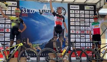 Medvedev puntuale.  Un giornata da segnare alla Alta Valtellina Bike Marathon