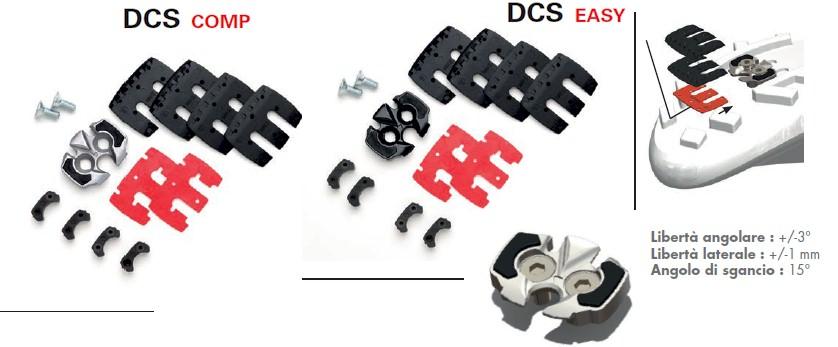 Tacchette DCS per pedali Look