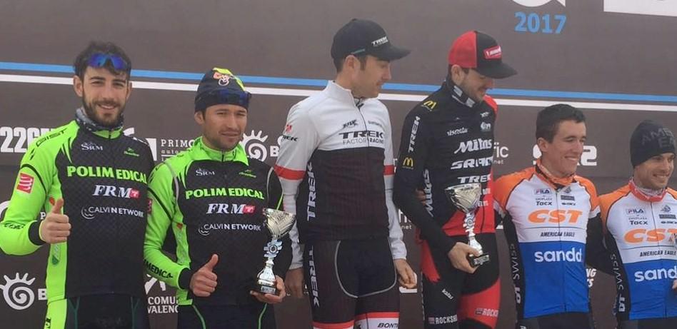 Costa Blanca Bike Race, il podio con Leo Paez e Pietro Sarai