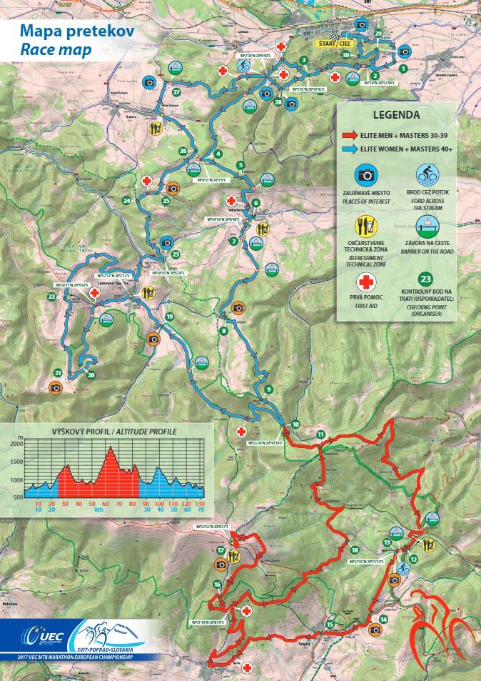 Campionato europeo marathon il percorso