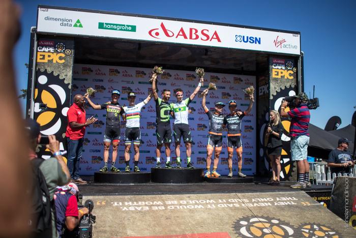 Cape Epic - Il podio del Prologo