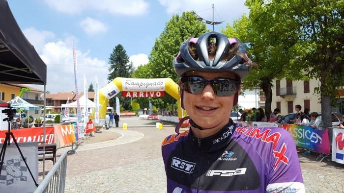 Costanza Fasolis alla Rampignado Bike