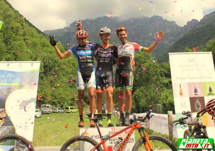 Sunset Bike - granfondo delle Pertiche podio maschile