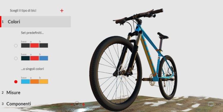 titici configuratore bici