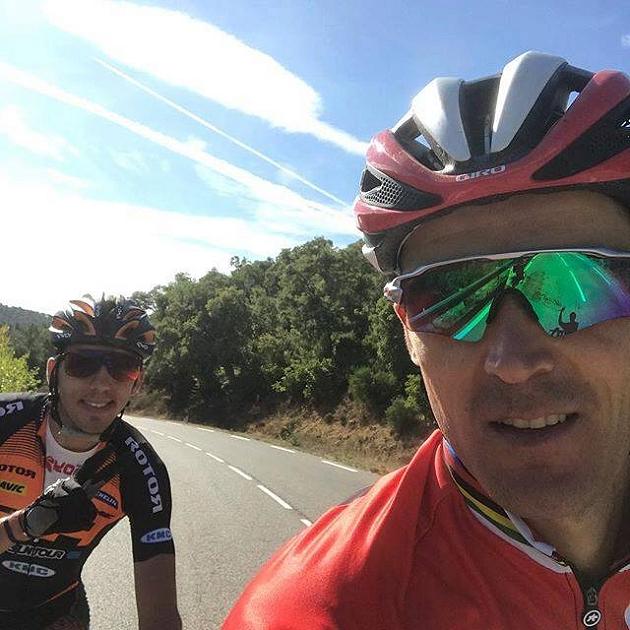 Julien Absalon e Julien Sarrou in ricognizione alla Roc d'Azur